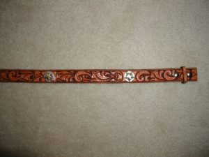 Belt with conchos