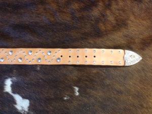 crystal rivet belt