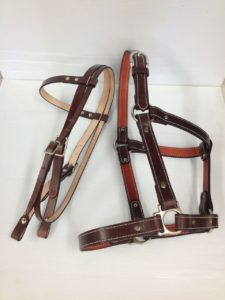 Custom made horse headstall and halter